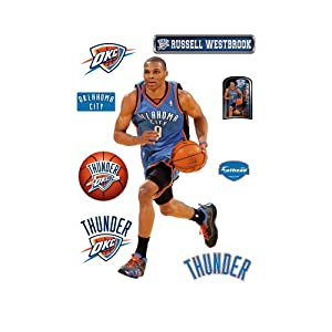 Buy NBA Oklahoma City Thunder Russell Westbrook Wall Graphic by Fathead
