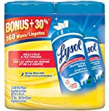 Lysol Disinfecting Surface Wet Wipes 80 Count Value Double Pack Spring Waterfall, 160 Count