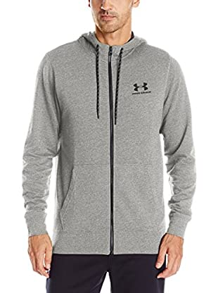 Under Armour Sudadera con Cierre Triblend Full Zip Hoodie (Gris Claro)