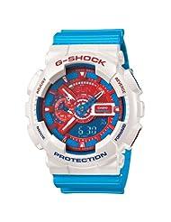 Casio LED Light Analog-Digital Multi-Colour Dial Men's Watch - GA-110AC-7ADR (G446)