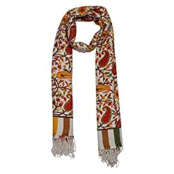 Shawls of India Pretty Multicolor Printed Stole