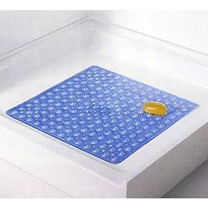 """21"""" Non-Slip Square Shower Mat - White : Non Slip Bathtub Mats : Baby"""