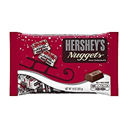 Hershey\'s Holiday Nuggets Milk Chocolates, 10-Ounce Bag