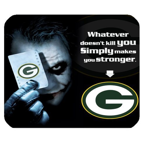 NFL Green Bay Packers With Joker Poker High Quality Printing Rectangle Mouse Pad Design Your Own Computer Mousepad For Christmas Gifts at Amazon.com