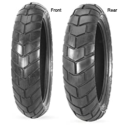 Avon Tyres Distanzia AM44 Tire - Rear - 120/80S-18 , Position: Rear, Tire Construction: Bias, Tire Size: 120/80-18, Rim Size: 18, Tire Type: Dual Sport, Load Rating: 62, Speed Rating: S, Tire Application: All-Terrain 2979511