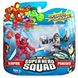Marvel Superhero Squad Hasbro Series 6 Mini 3 Inch Figure 2-Pack Punisher & Deadpool