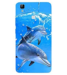 ColourCraft Dolfins Design Back Case Cover for VIVO V3 MAX