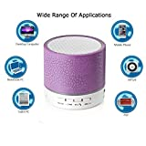 A9 Mini Wireless Portable Bluetooth Speaker With LED and Build-in Mic Support AUX TF for iPhone iPod  Android PC(Purple)