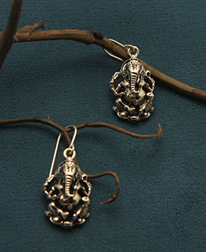 Bronze Ganesha  Earrings