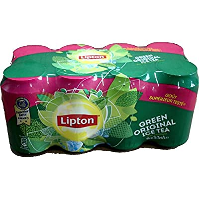 Lipton Ice Tea Green Original 1 Pack á 8 x 0,33l Dose IMPORT (8 Dosen Eistee grüner Tee eingeschweißt) von Unilever - Gewürze Shop