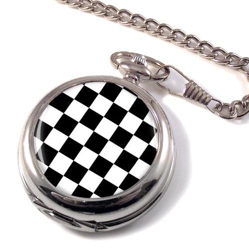 Checkerboard Tiled Floor Of King Solomon'S Temple Masonic Full Hunter Pocket Watch
