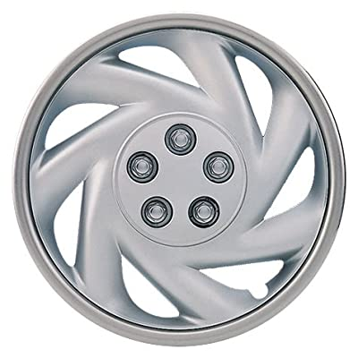 "Drive Accessories KT845-14SL-PC 14"" Plastic Wheel Cover, Silver Lacquer (Alloy Color), Single Piece"