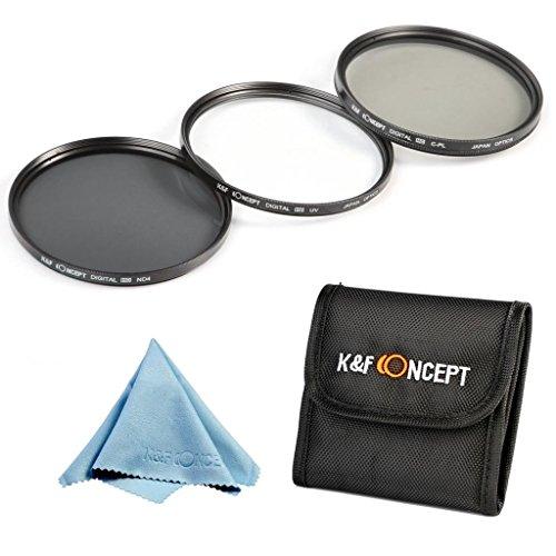レンズフィルター 77mm、K&F Concept® 77mm フィルターキット(UV+CPL+ND4)UVフィルター 77mm プロテクター レンズ保護と紫外線吸収用 超薄型+CPLフィルター 77mm 偏光フィルター 反射除去用+NDフィルター 77mm ND4 減光フィルター Canon 6D 5D Mark II 5D Mark III Nikon D70 D90 D7100 D3200 D7000 D5100デジタル一眼レフカメラ24-70mm 10-24mm専用+クリーニングクロス+フィルターケース