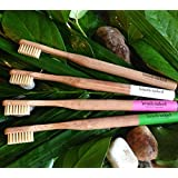 Brush Naked Bamboo Toothbrush, Adult Soft 4-Pack