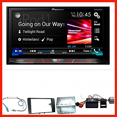 Komplett-Set-Audi-A3-8P8PA-PIONEER-AVH-X8800BT-Moniceiver-Bluetooth-USB-DVD-MP3