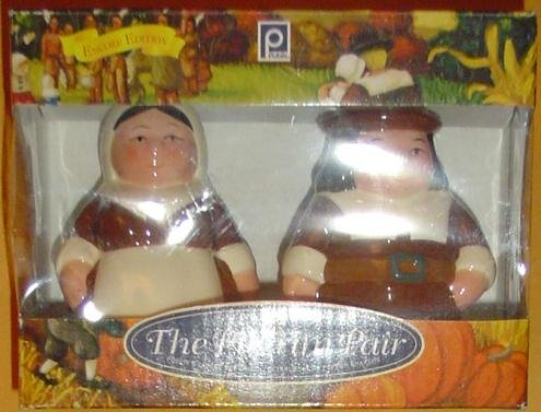 The Pilgrim Pair, Encore Edition, Animated Salt & Pepper Shakers Set From the Publix Television Commercial. Thanksgiving Pair of Collectable Characters