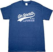 Go Sports Do Good Funny Football Baseball Mens Adult T-shirt Navy Blue