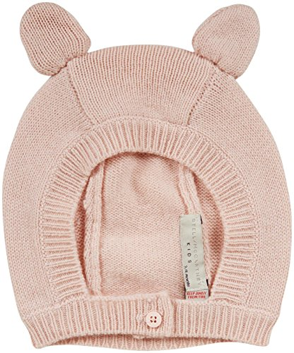 Stella McCartney Baby-Girls Infant Chips Wool-Cashmere Bunny Hat, Pink, 3-6 Months
