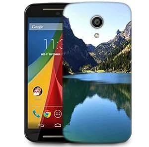 Snoogg Green River Designer Protective Phone Back Case Cover For Motorola G 2nd Genration / Moto G 2nd Gen