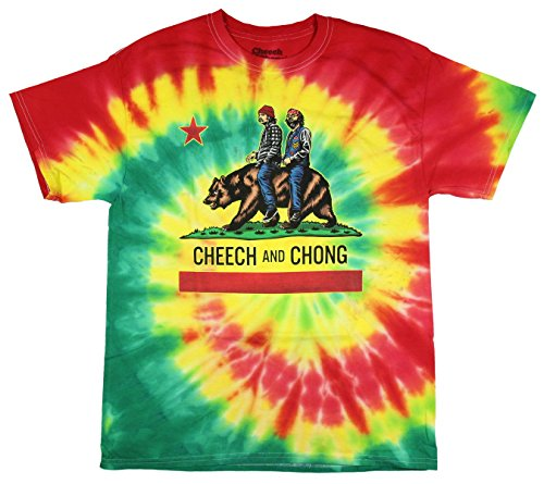Cheech-Chong-California-Buds-Tie-Dye-Graphic-T-Shirt