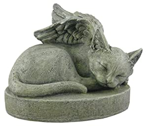Sympathy Cat Cat Angel Pet Memorial Stone Outdoor Statues Patio Lawn Garden