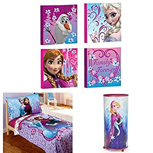 Disney Frozen Elsa & Anna Bedding and Decor Bundle (Decor Bundle)