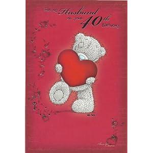 me to you husband 40th birthday card new design: Amazon