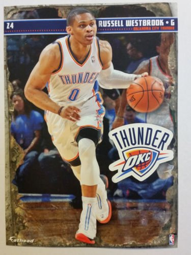 2013-2014 NBA Russell Westbrook OKC Thunder Mini Fathead Decal + Mini Pennant - 1