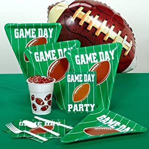 BEISTLE 203400 Game Day Football Standard Party Pack
