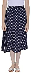 FADJUICE Women's Skirt (FJ-GS-009_30, Blue, 30)