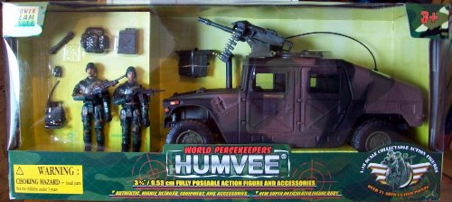 Picture of M & C Toy World Peacekeepers Power Team Elite Humvee with Action Figures (B002RISBB8) (M & C Toy Action Figures)