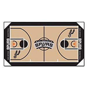 Buy FANMATS NBA San Antonio Spurs Nylon Face NBA Court Runner-Small by Fanmats