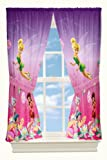 Disney Fairies Pixie Paradise Drapes, 82 by 63-Inch