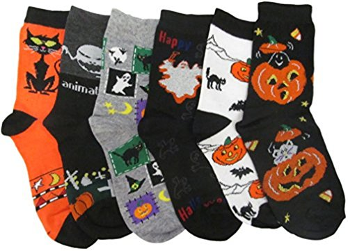 Kids Halloween Socks Set of 6