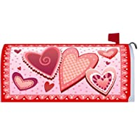 Valentine's Day Hearts - Magnetic Mailbox Cover Wrap