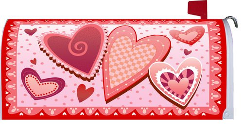 Valentine's Day Hearts Magnetic Mailbox Cover