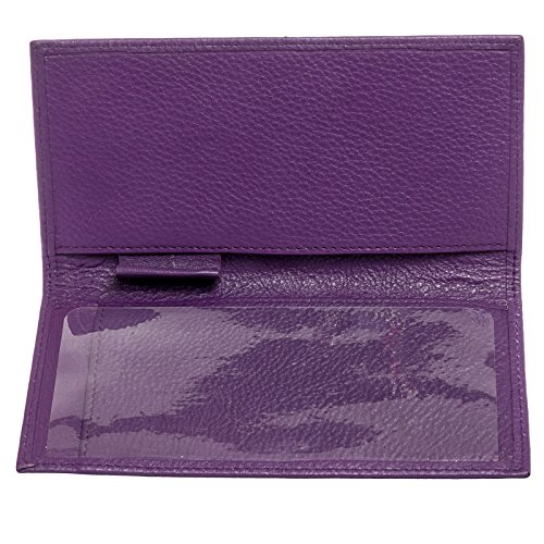 09. Paul & Taylor Men's Leather Checkbook Cover Bifold Wallet - Multiple Colors!