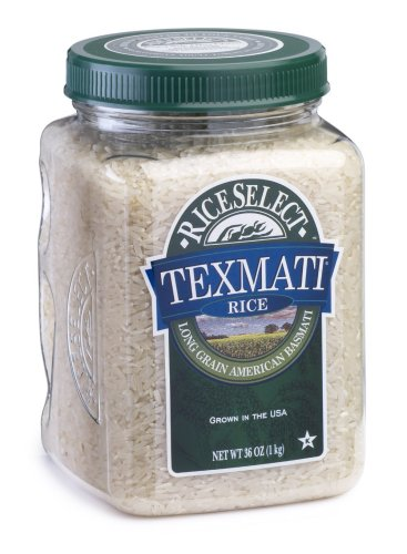 Texmati Long Grain American Basmati White Rice, 36-Ounce Jars (Pack of 4)