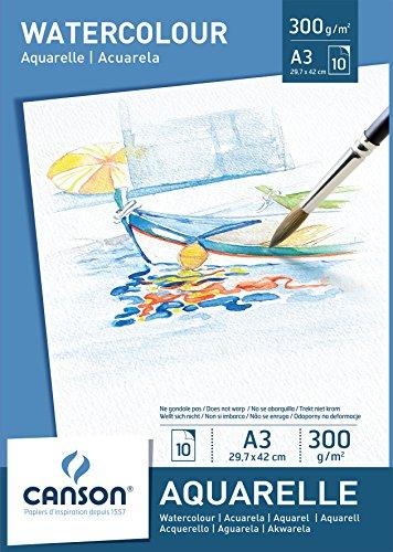 canson-bloc-10-feuilles-papier-aquarelle-300-g-a3-blanc