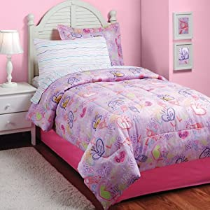 6pc LOL Texting Twin Bedding Set