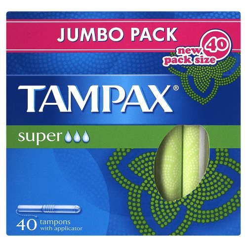 Tampax Super Tampons with Applicator x 40