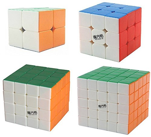 MiL Stickerless Cube Puzzle Bundle Pack Speed Cube Standard Color Smooth Sequential Puzzle Toy