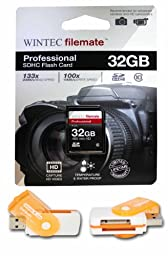 32GB Class 10 SDHC High Speed Memory Card For Panasonic DMC-G3K Series DMC-GF2C Series Cameras. Perfect for high-speed continuous shooting and filming in HD. Comes with Hot Deals 4 Less All In One Swivel USB card reader and Lifetime Warranty.
