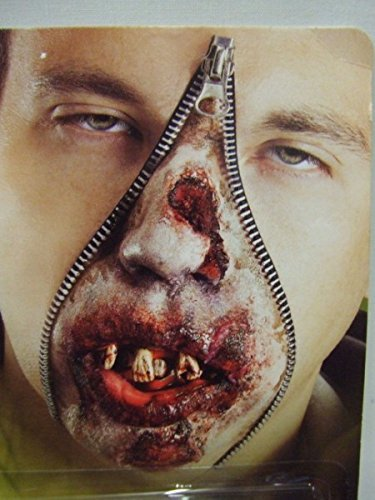 [Zipper Face Makeup Kit, Special FX Face Paint Zip Blood Scary Fancy Dress by Marlowe costumes] (Zipper Fx Kit)