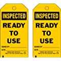 """Brady  86716 7"""" Height x 4"""" Width, Cardstock (B-853), Black on Yellow Accident Prevention Tags (100 Tags)"""