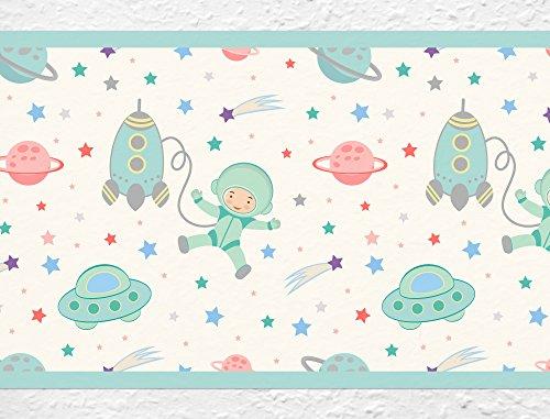 I-Love-de-pared-adhesivo-B-de-10036-habitacin-de-los-Nios-cenefa-astronauta-en-el-espacio-estrella-cielo-Papel-pintado-infantil