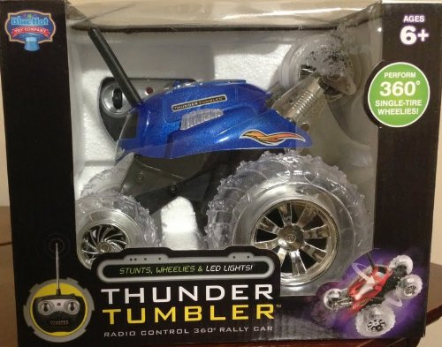 BLUE HAT TOY COMPANY THUNDER TUMBLER RC SPINNING CAR - 1645854