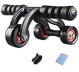 Amazon.co.jp(クチュールブライダル)CoutureBridal 腹筋ローラー 筋トレ コロコロ 腹筋  静音 3輪 ストッパー付 マット ダイエット器具  全身