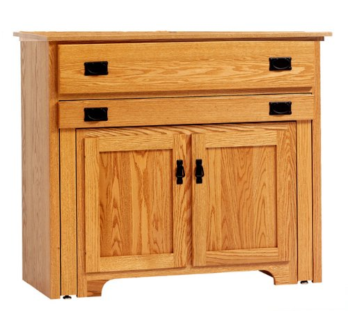 Buy Low Price Amish Furniture House Amish USA made – Mission Console Buffet with Pullout Table -8-POC301B (B003YD1586)