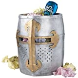 Design Toscano Crusader's Great Helm Gothic Trash Bin in Faux Metal. Free Delive ;HJ#7-545/MKI94 G1523248